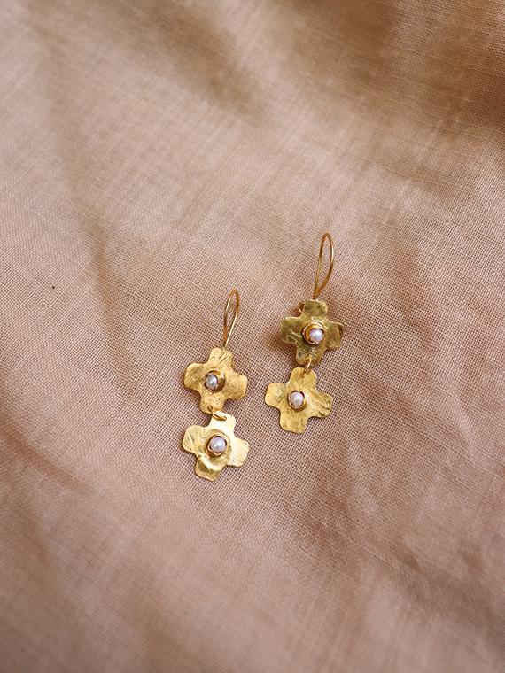 jour après ski shop online golden handmade earrings 2