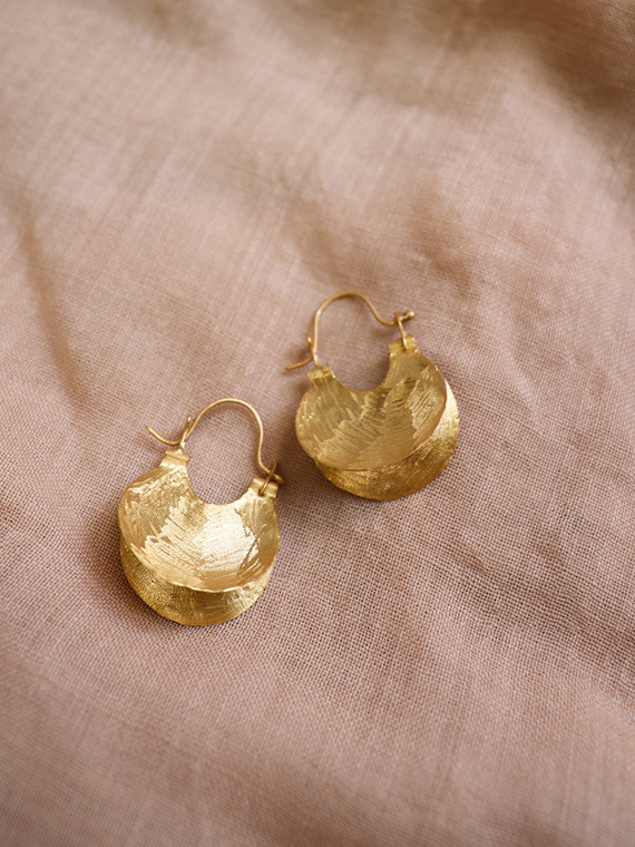dat après ski shop online golden handmade earrings