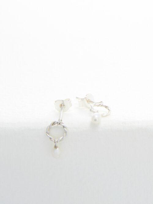 handmade earrings Nolda Vrielink amsterdam jewellery silver earrings
