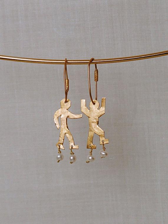 nubi après ski shop online golden handmade earrings