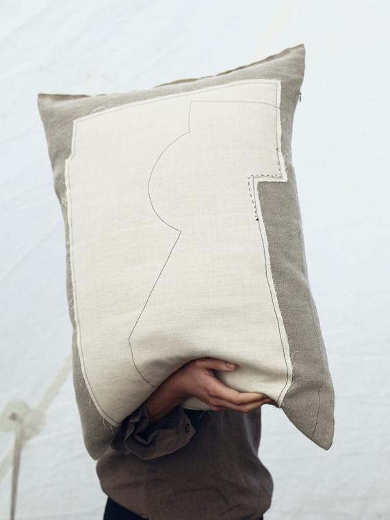 linen cushion nomad fant shop online natural linen mud