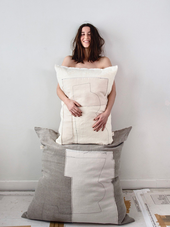 linen cushion nomad fant shop online natural linen coconut mud