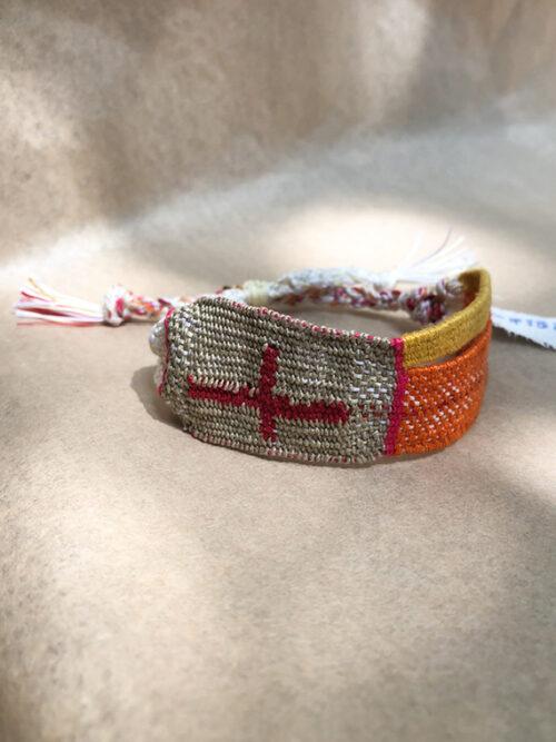 Manchette LOOM N°188 handmade bracelet Myriam Balay Made in France