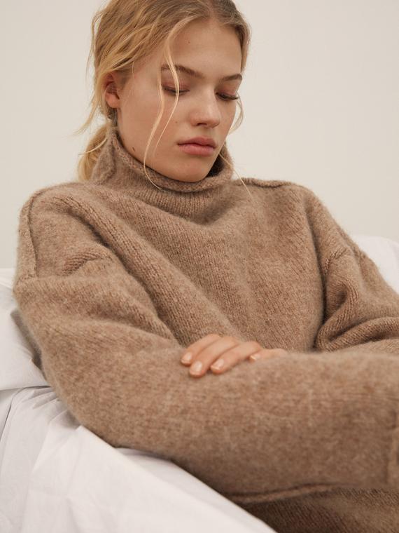 teddy sweater aiayu shop online model