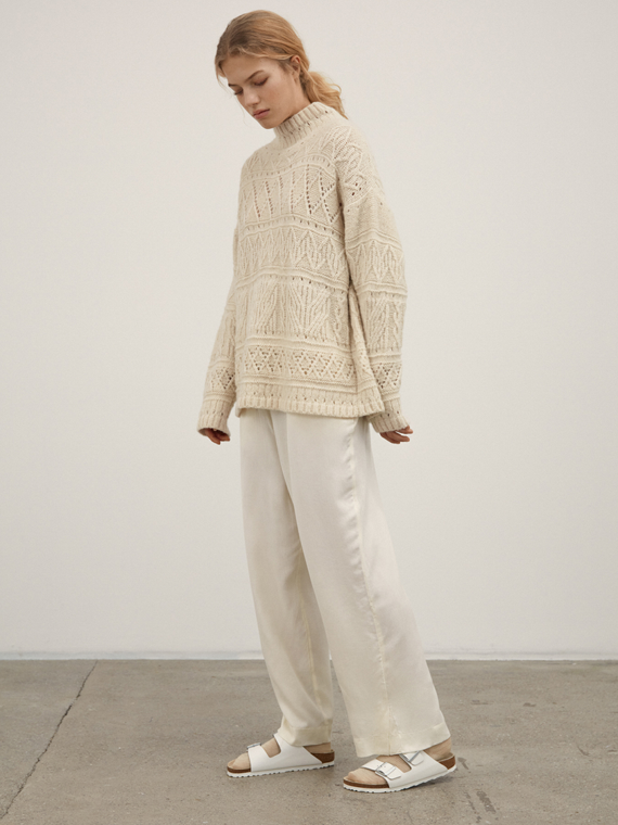 blanco sweater aiayu shop online detail total look