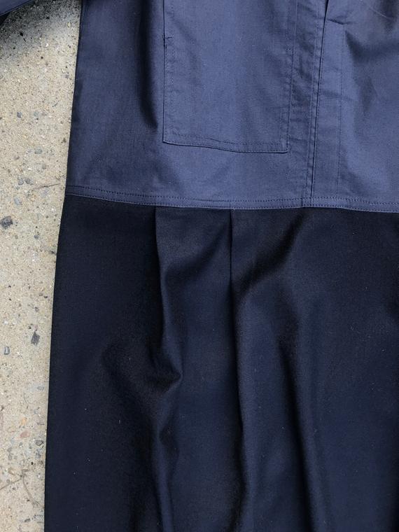 woolen dress fant online shop dress Renee navy detail