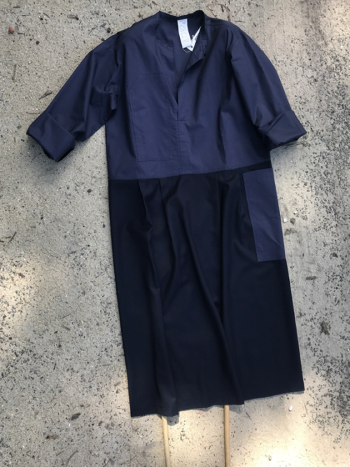 woolen dress fant online shop dress Renee navy front