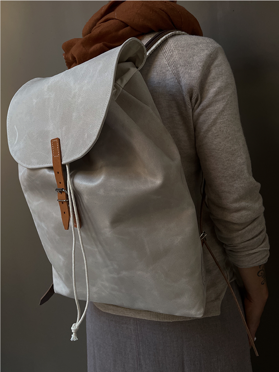 eco leather backpack made in amsterdam snekkerbuks off white editorial