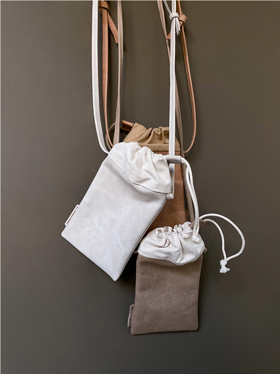 handmade eco leather pouch snekkerbuks varaitions