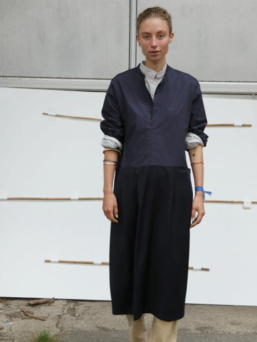 woolen dress fant online shop dress Renee navy editorial 2