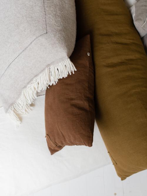 linen cushion fant shop online fant kussen fant cushion burn olive woolen cushion home